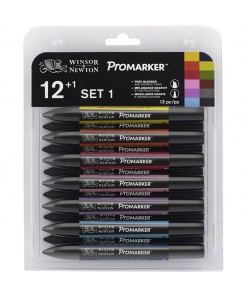 Set 12 + 1 markere Promarker
