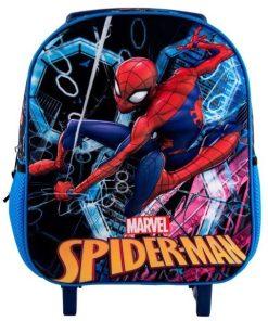 Ghiozdan Troller Grădiniță 3D cu licență Spider Man