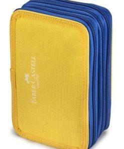 Faber Castell Penar College echipat 3 fermoare galben-albastru 576107