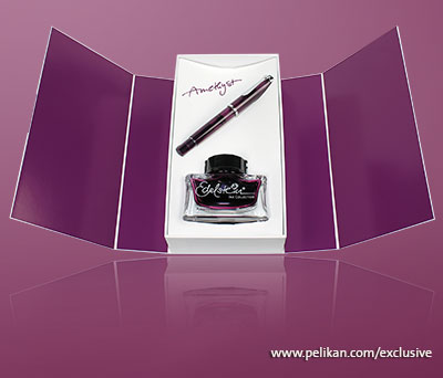 Pelikan Set Stilou Classic M205 + cerneală Edelstein Amethyst cutie