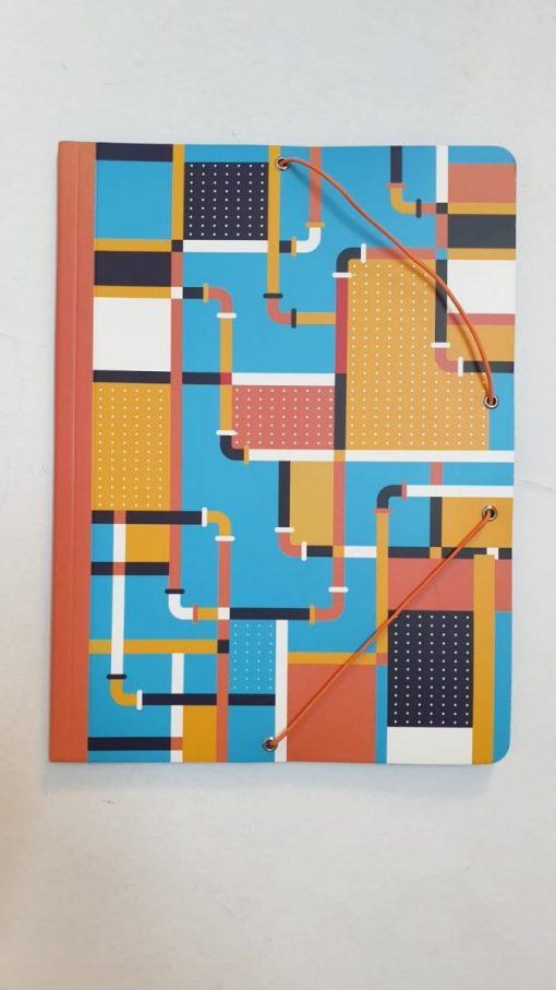 Milan - Mapă cu elastic 1 cm cub