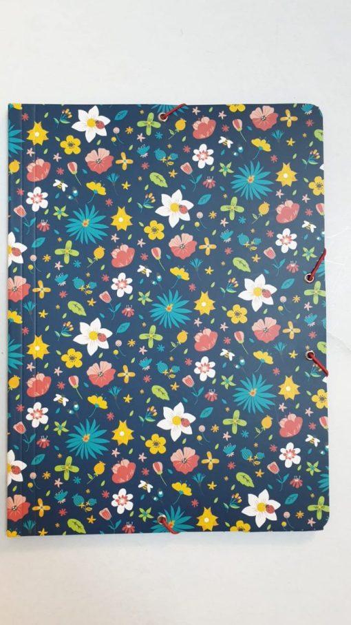 Milan - Mapă cu elastic 1 cm floral