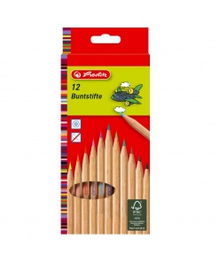 Herlitz - Set creioane colorate hexagonale