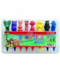 Daco Creioane Plastic set 8 Plasti Zoo CC708