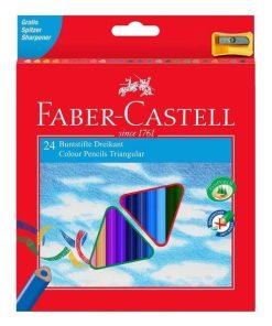 Faber Castell - Creioane colorate triunghiulare 24 culori