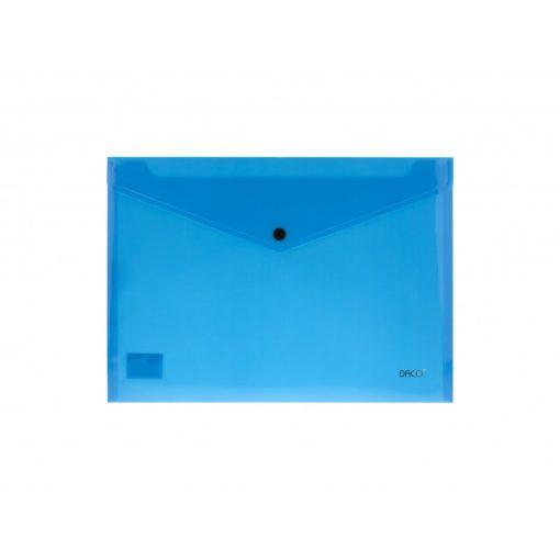 Daco - Mapă plastic cu capsă A4 albastră