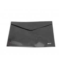 Daco - Mapă plastic cu capsă A4 neagră
