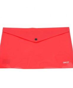 Daco - Mapă plastic cu capsă A4 roșie