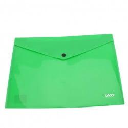 Daco - Mapă plastic cu capsă A4 verde