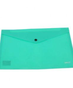 Daco - Mapă plastic cu capsă A4 turcoaz