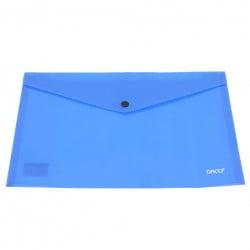Daco - Mapă plastic cu capsă A5 albastră