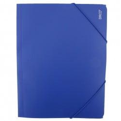 Daco - Mapă cu elastic A4 albastră