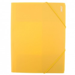 Daco - Mapă cu elastic A4 galben