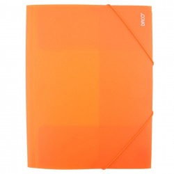 Daco - Mapă cu elastic A4 portocaliu