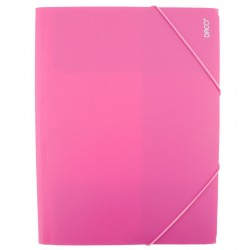 Daco - Mapă cu elastic A4 roz
