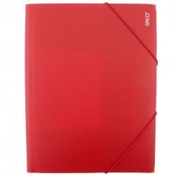 Daco - Mapă cu elastic A4 roșie