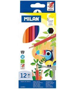 Milan - Creioane Colorate set 12 vârf fin 80012