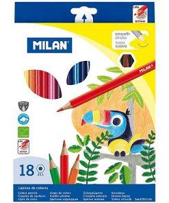 Milan - Creioane Colorate set 18 vârf fin 7221118