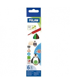 Milan - Creioane Colorate set 6 ergo grip 722306