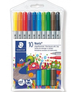 Staedtler - Noris club carioci colorate 2 capete set 10 culori