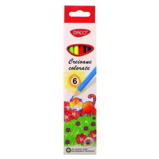 Daco - Set creioane colorate hexagonale CC
