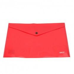 Daco - Mapă plastic cu capsă A5 roșie
