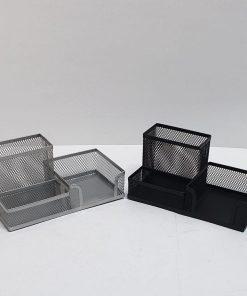 Ecada - Suport birou 3 compartimente metalic