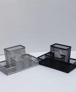 Ecada - Suport birou 4 compartimente metalic