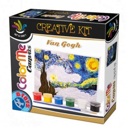 D-Toys - Joc Creativ Color Me Canvas Van Gogh