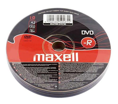 DVD-R Maxell set 10 bucati