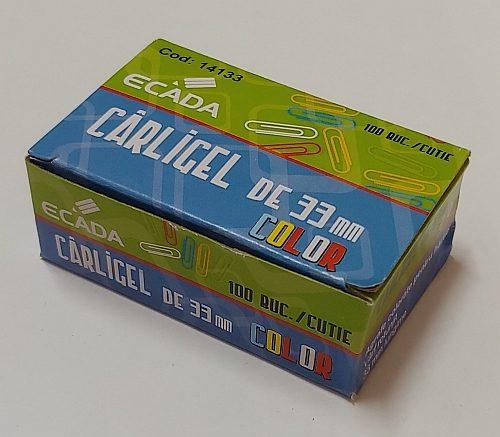 Ecada agrafe birou 33mm din vinil colorate