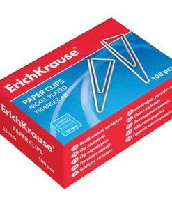ErichKrause agrafe birou 32 mm nichelate triunghiulare