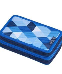 Herlitz Penar echipat 3 fermoare Blue Cubes
