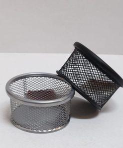 Suport birou agrafe metalic rotund