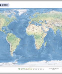 Aquila - Harta Lumii 70x100