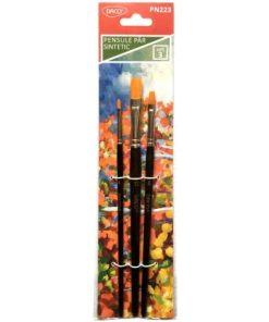 Daco - Set pensule păr sintetic și vârf drept