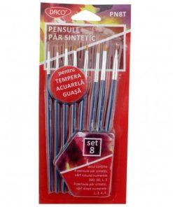 Daco - Set pensule păr sintetic și vârf rotund PN8T