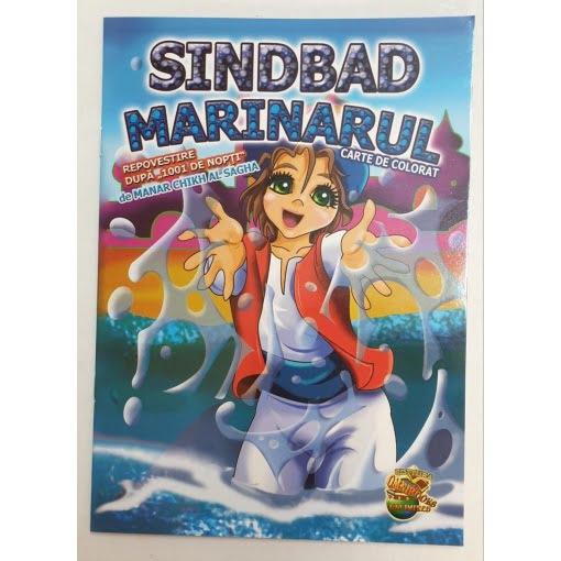 Omnibooks - Carte de colorat cu poveste Sinbad Marinarul