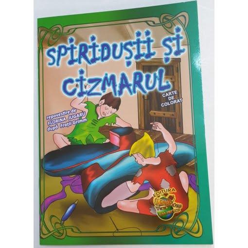 Omnibooks - Carte de colorat cu poveste Spiridușii și Cizmarul