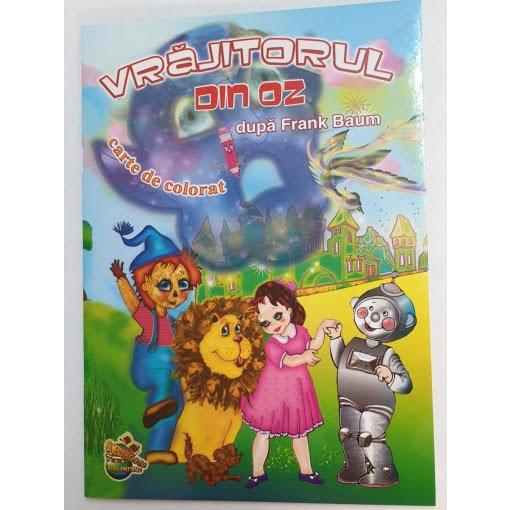 Omnibooks - Carte de colorat cu poveste Vrăjitorul din Oz