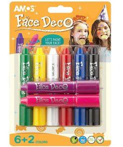 Amos Set Face Deco 8 culori