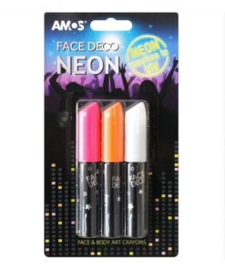 Amos Set Face Deco Neon