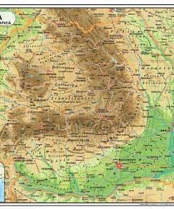 Aquila - Harta România fizică