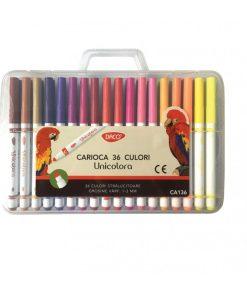 Daco Carioca Unicoloră set 36 culori CA136