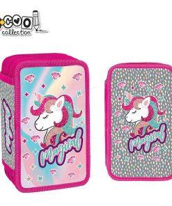 Penar S-cool Collection echipat 3 fermoare pentru fete Unicorn SC1324