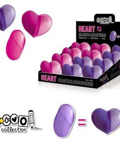 S-cool Ascuțitoare&Radieră inimă SC863