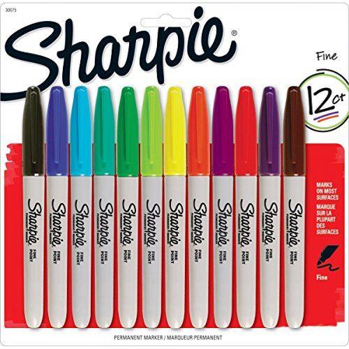 Sharpie Permanent marker fine set 12 culori