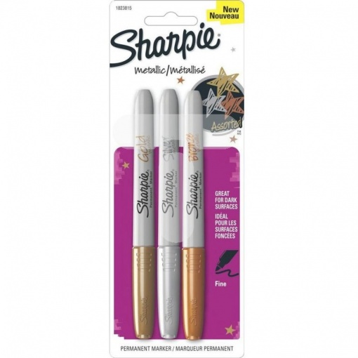 Sharpie Permanent marker metallic set 3 culori