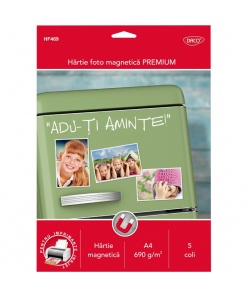 "Hârtie foto magnetică premium A4 5 coli 690 g/m^2 ""Adu-ți aminte"" HF469"