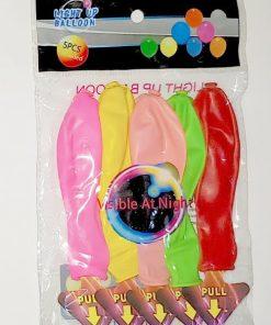 Baloane Multicolore cu lumină Led set 5